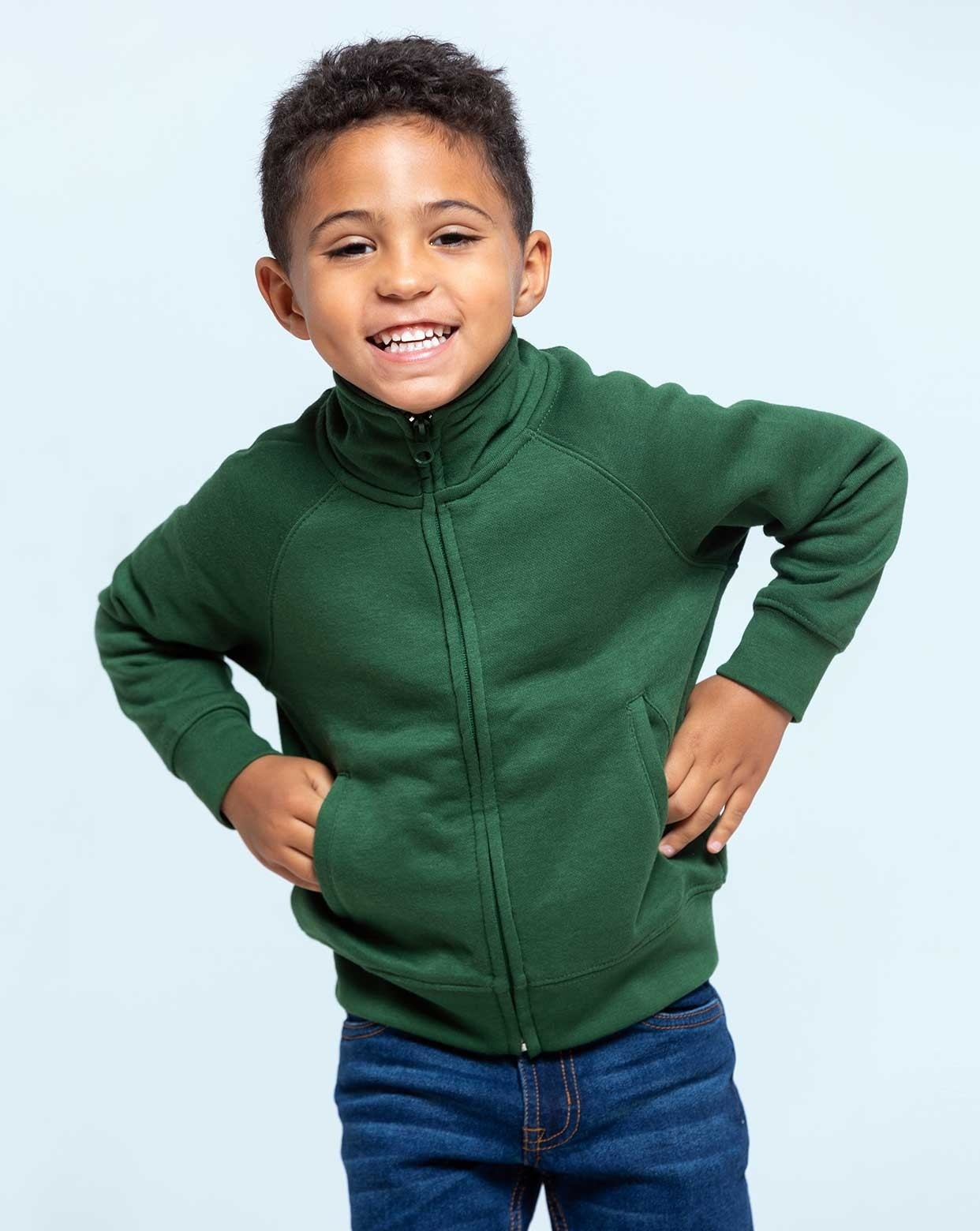 JHK KID FULL ZIP SWEATSHIRT